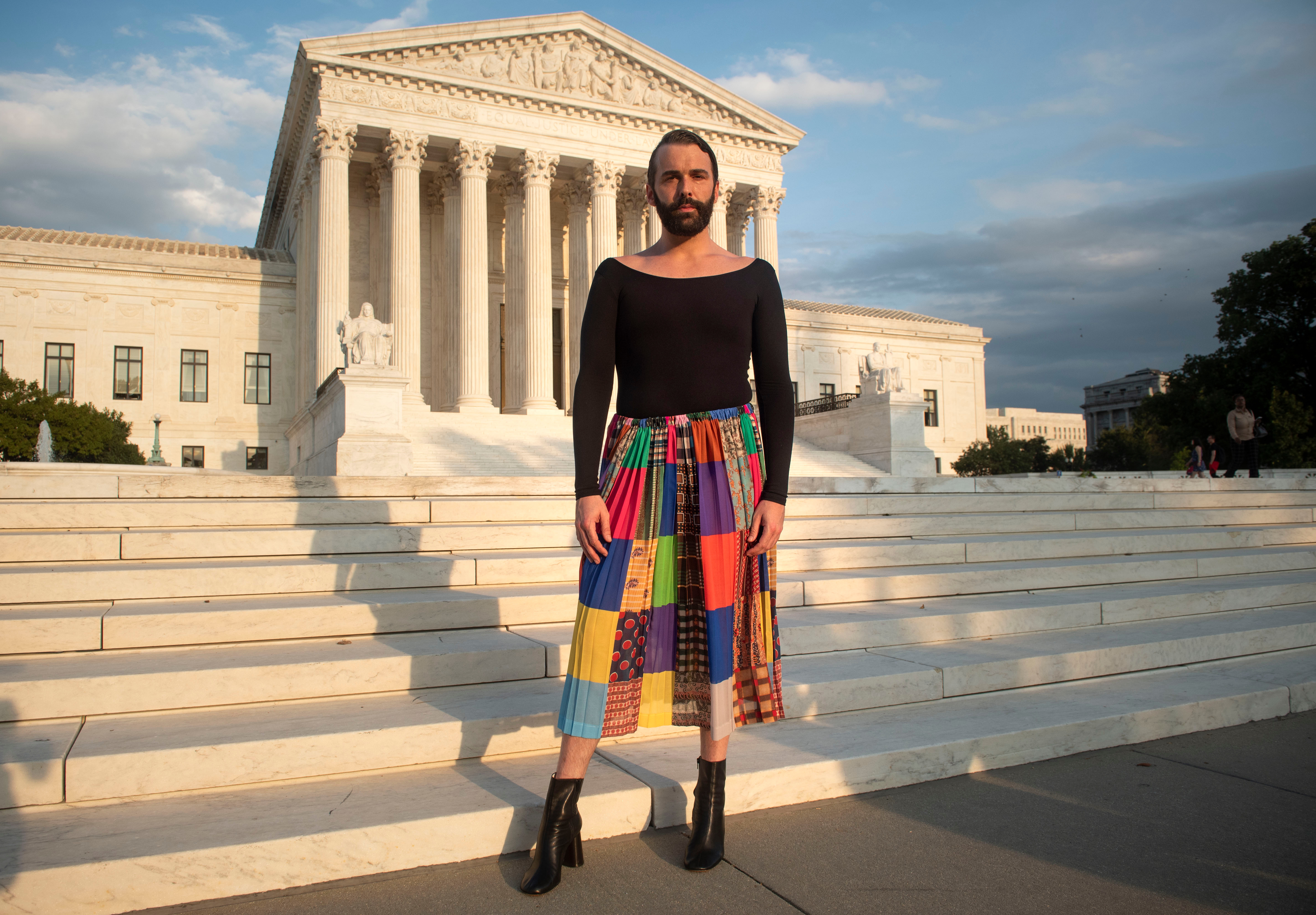Queer Eye star and author Jonathan Van Ness is photographed in front of the Supreme Court after spending the day with Human Rights Campaign volunteers meeting with members of Congress and encouraging support for issues critical to the LGBTQ community on in WashingtonHRC 2019 Lobby Day, Washington, USA - 26 Sep 2019