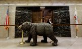 A bronze statue of a bear sits outside the governor's office in the office building attached to the Capitol, in Sacramento, Calif. Lawmakers approved a $755 million plan Thursday to rebuild the statehouse annex that houses the governor's office and most legislative officesCalifornia Budget Lawmakers Offices, Sacramento, USA - 14 Jun 2018