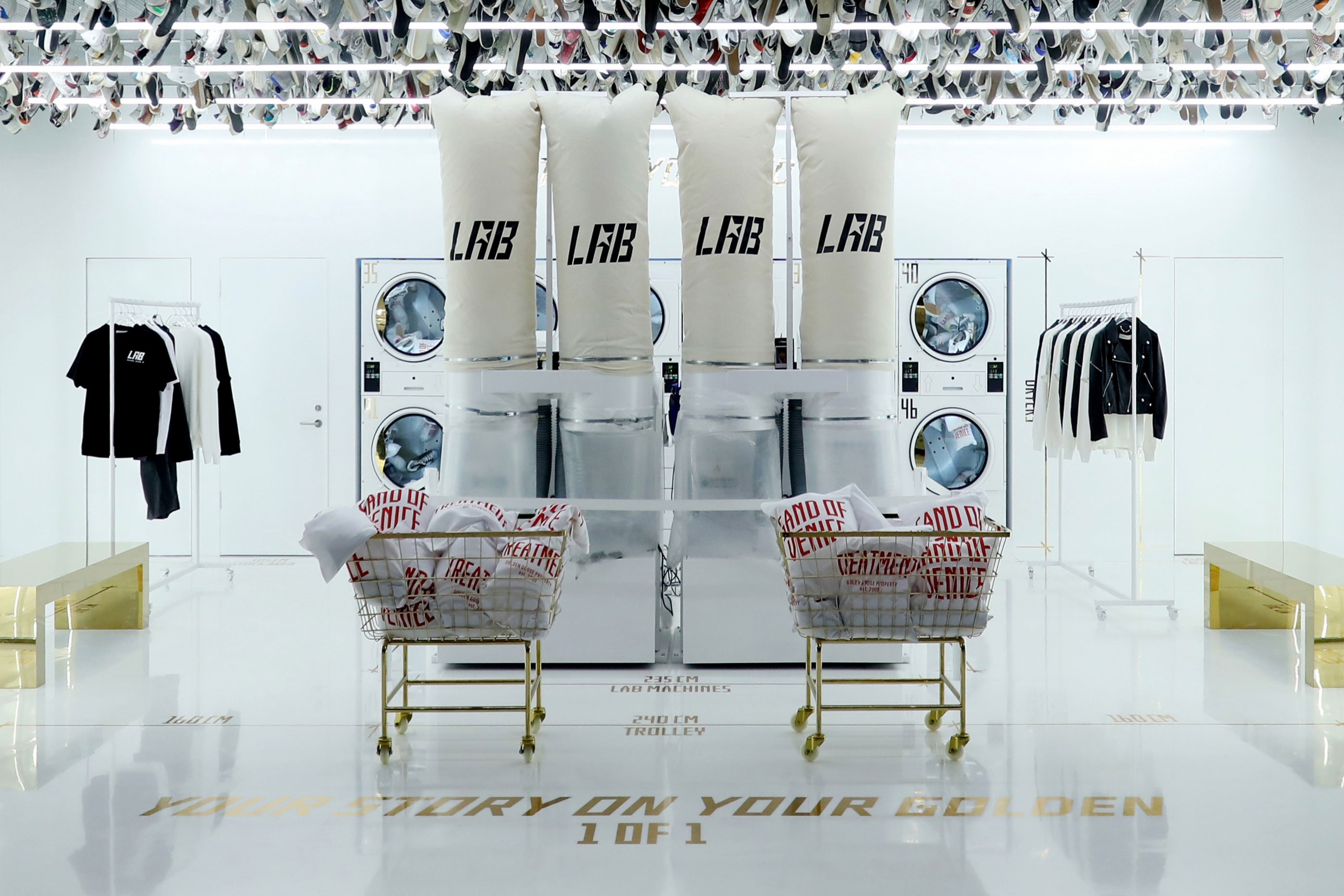 Golden Goose's Lab store located inside Beijing's SKP South luxury shopping mall.