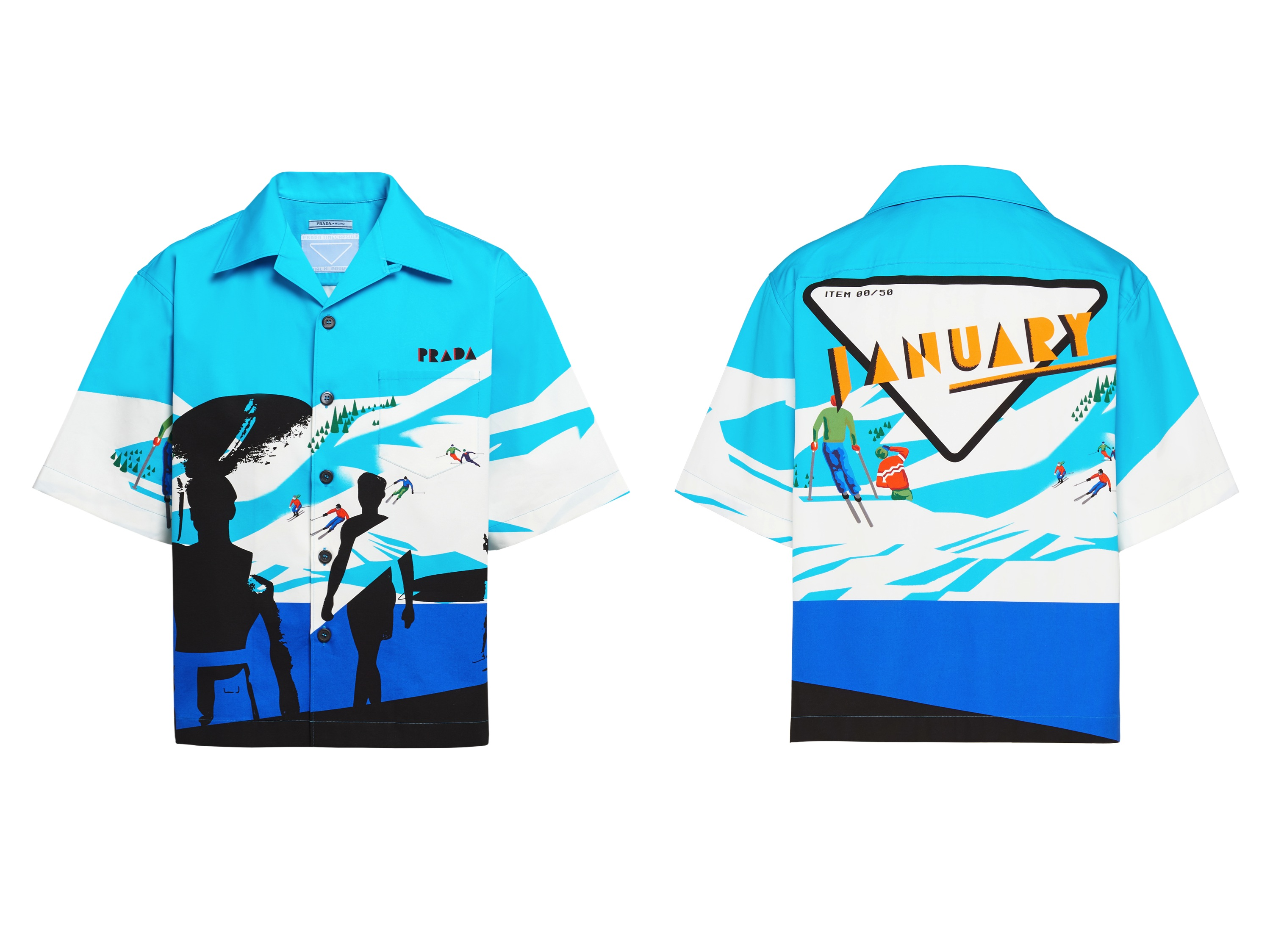 The Prada Time Capsule camp shirt dropping Jan. 2.