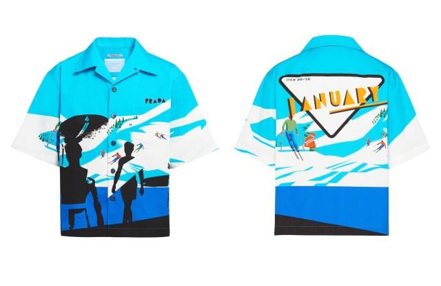 The Prada Time Capsule camp shirt dropping Jan. 2.