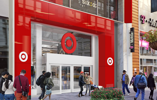 The entrance of Target's new store in New York's Herald Square.