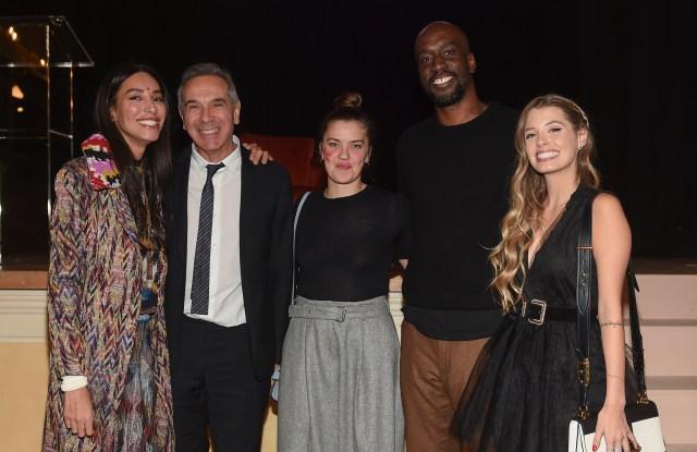 Lea T, Camera Nazionale della Moda's president Carlo Capasa, Veronica Yoko Plebani, Chris Richmond Nzi and Paola Antonini.