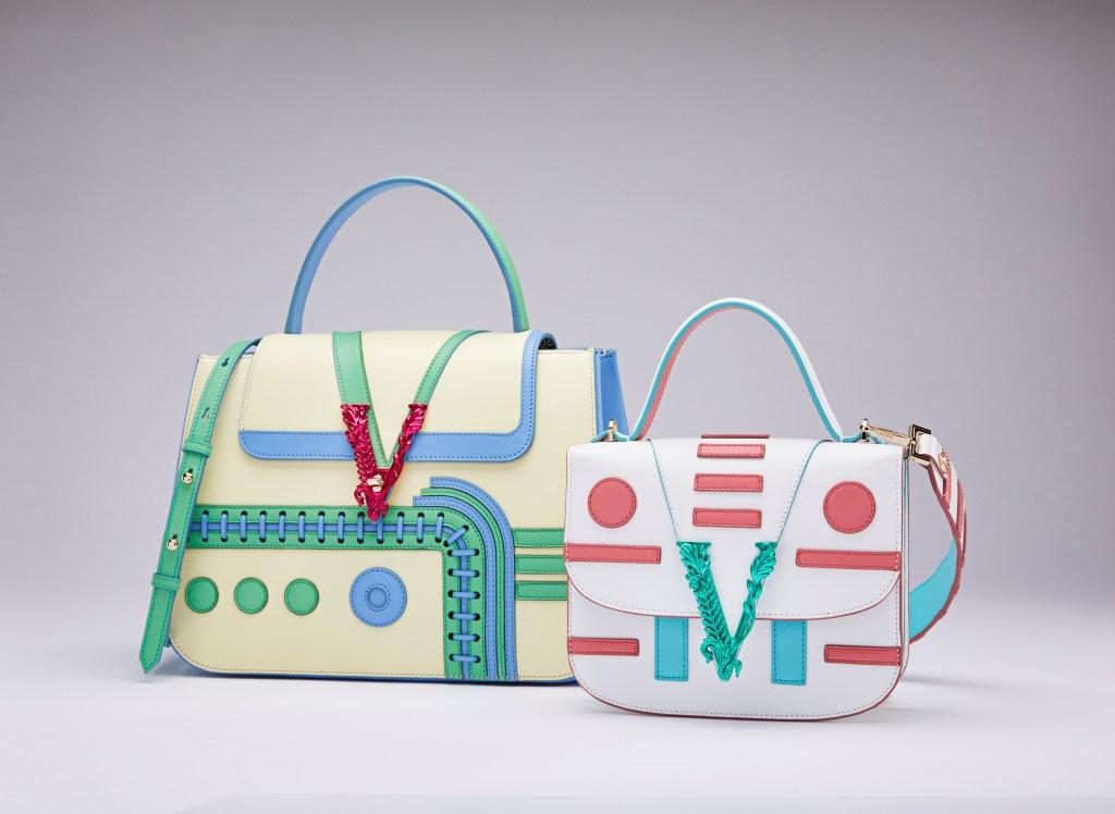 Versace's Virtus bags designed by Sasha Bikoff.