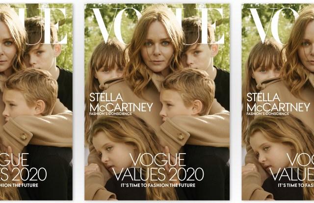 Stella McCartney on Vogue's January cover.