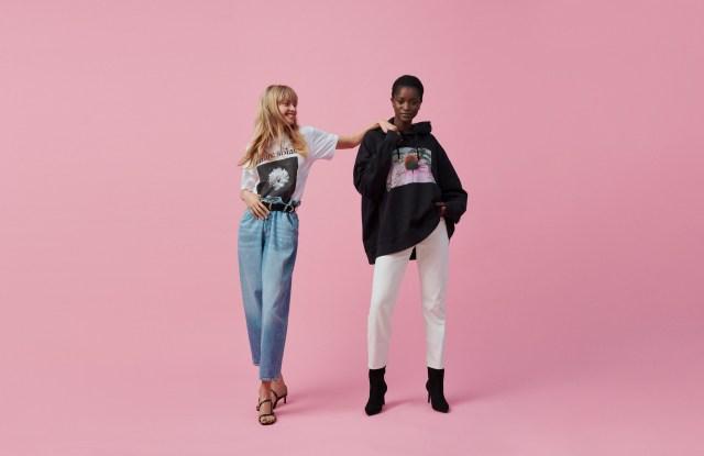 Models in the new Helena Christensen x H&M line.