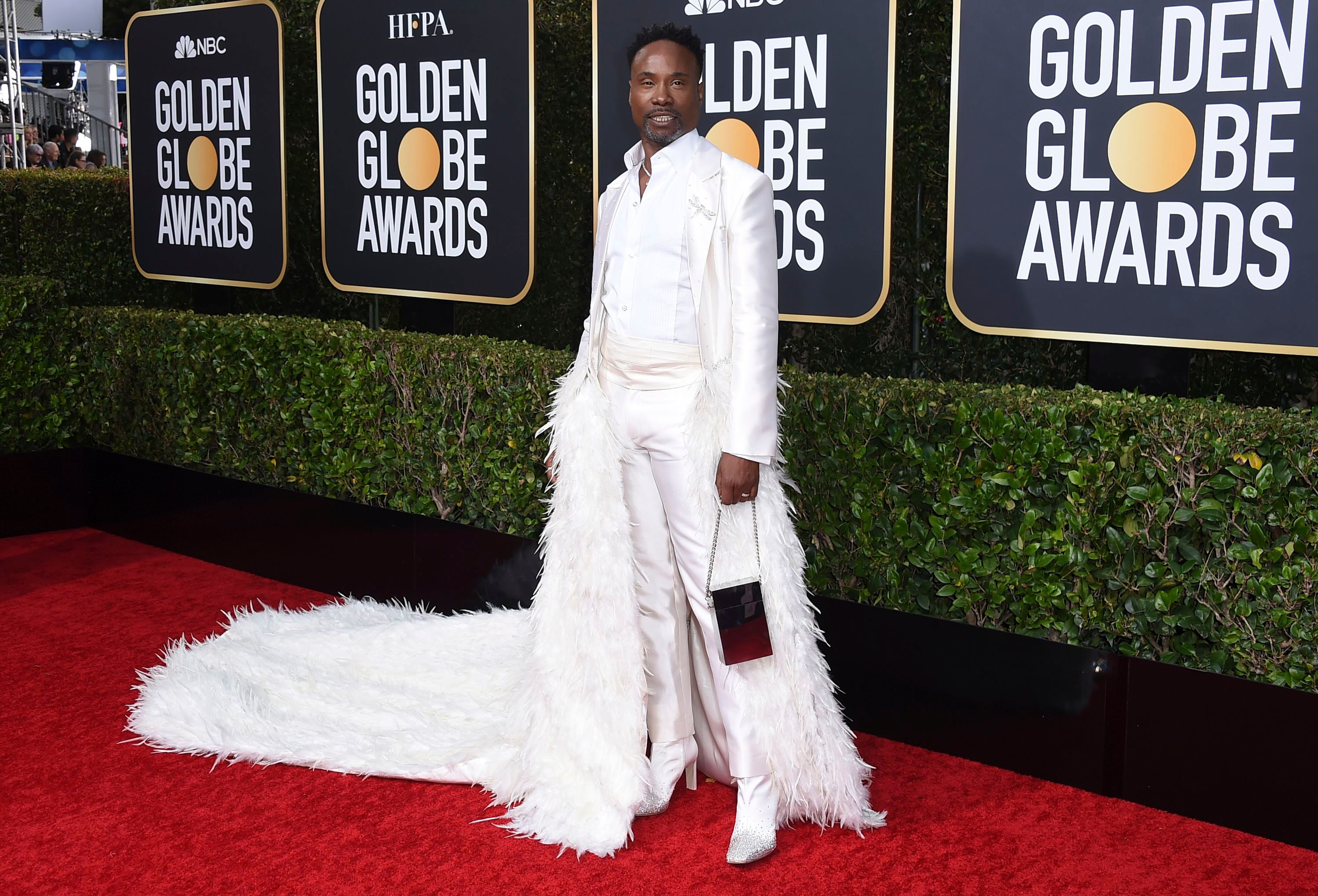 Billy Porter arrives at the 77th annual Golden Globe Awards at the Beverly Hilton Hotel, in Beverly Hills, Calif77th Annual Golden Globe Awards - Arrivals, Beverly Hills, USA - 05 Jan 2020