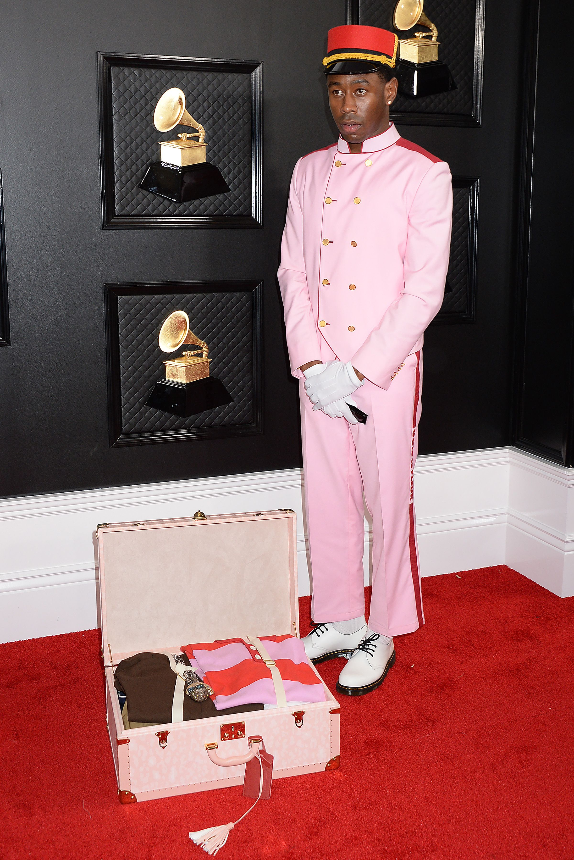 Tyler, the Creator - Tyler Gregory Okonma62nd Annual Grammy Awards, Arrivals, Los Angeles, USA - 26 Jan 2020 Wearing GolfLeFleur, Own Collection