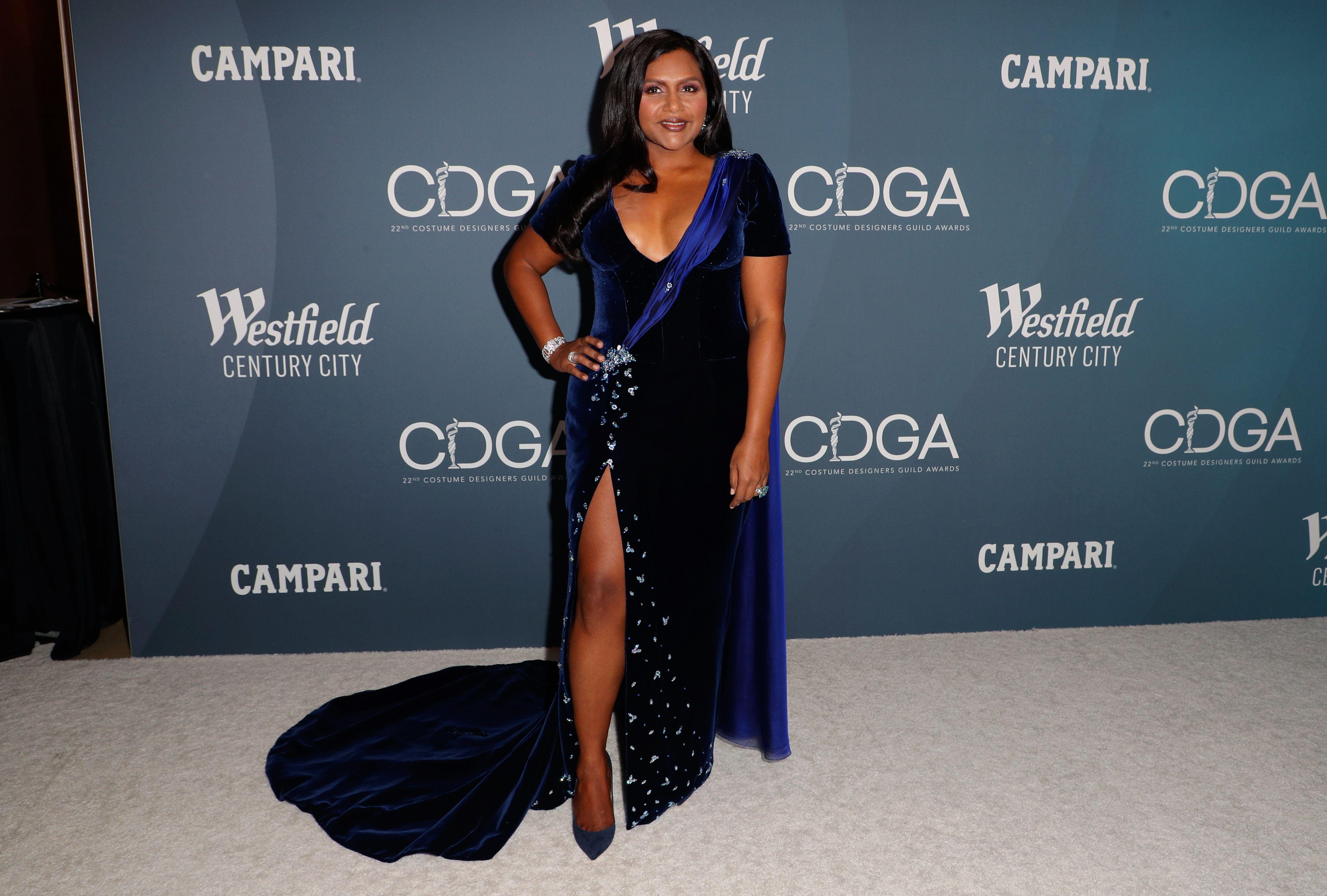 Mindy Kaling22nd Costume Designers Guild Awards, Arrivals, The Beverly Hilton, Los Angeles, USA - 28 Jan 2020 Wearing Salvador Perez, Custom