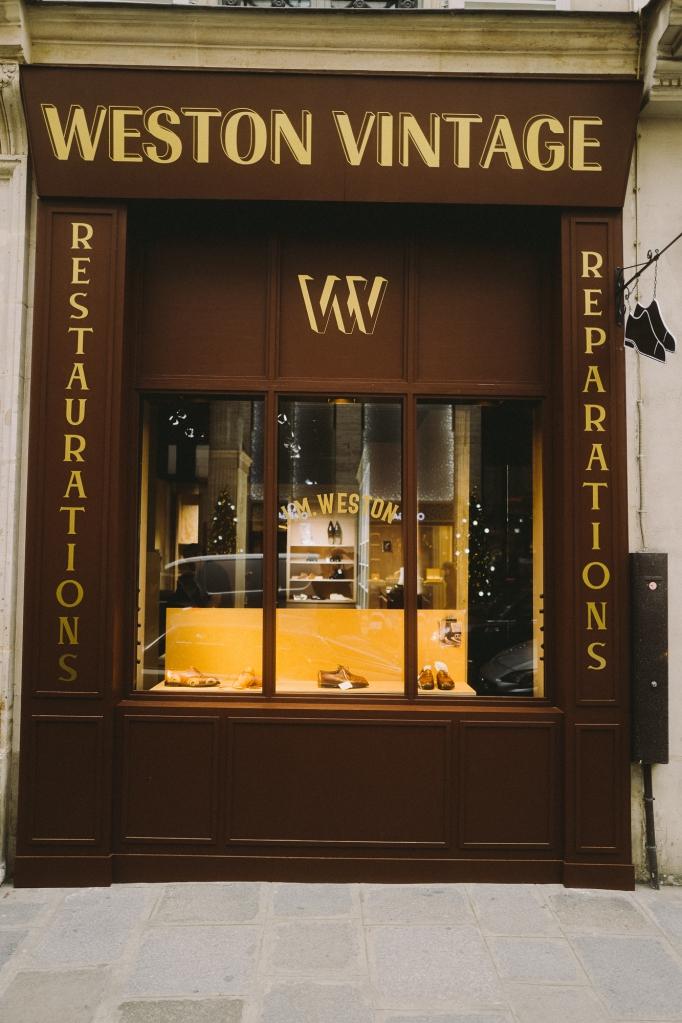 The J.M. Weston store on Rue Saint-Honoré in Paris.