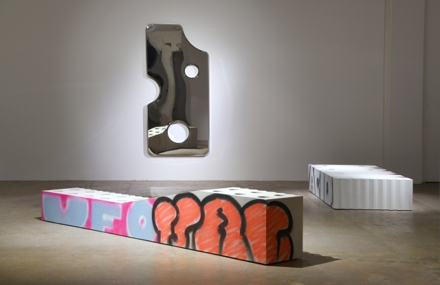"""Two pieces from Virgil Abloh's """"Efflorescence"""" furniture collection"""