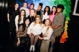 Back row L-R; Beanie Feldstein, Jenna Kutcher, Manuela Baron, Dre Thomas, Keiana Cavé, Lana Condor; Middle row L-R; Aly Raisma, Jennifer Foyle; Front row L-R; Hari Nef, Ali Stroker, Iskra Lawrence
