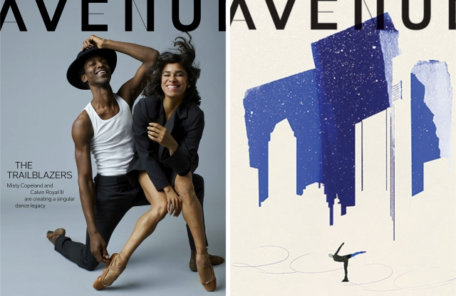 Avenue's digital and print covers.