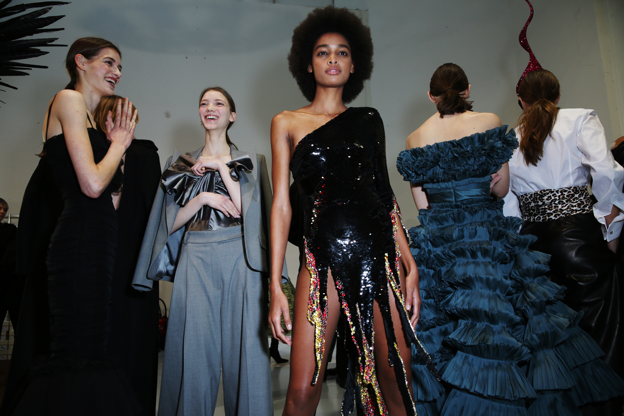 Backstage at Alexandre Vauthier Couture Spring 2020