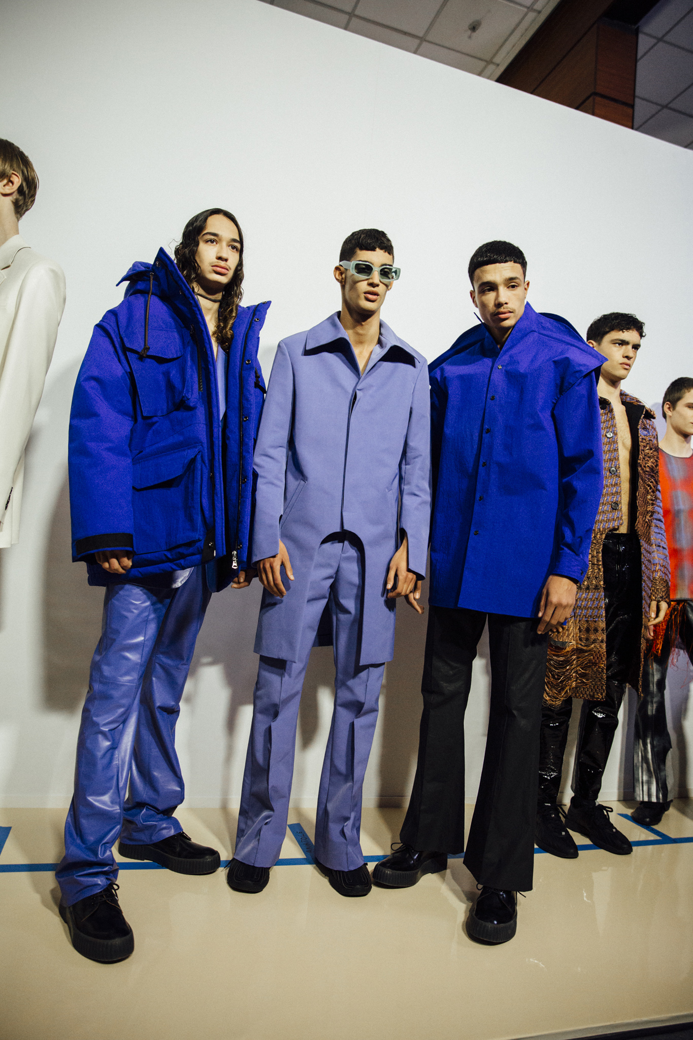 Backstage at  Acne Studios Men's Fall 2020