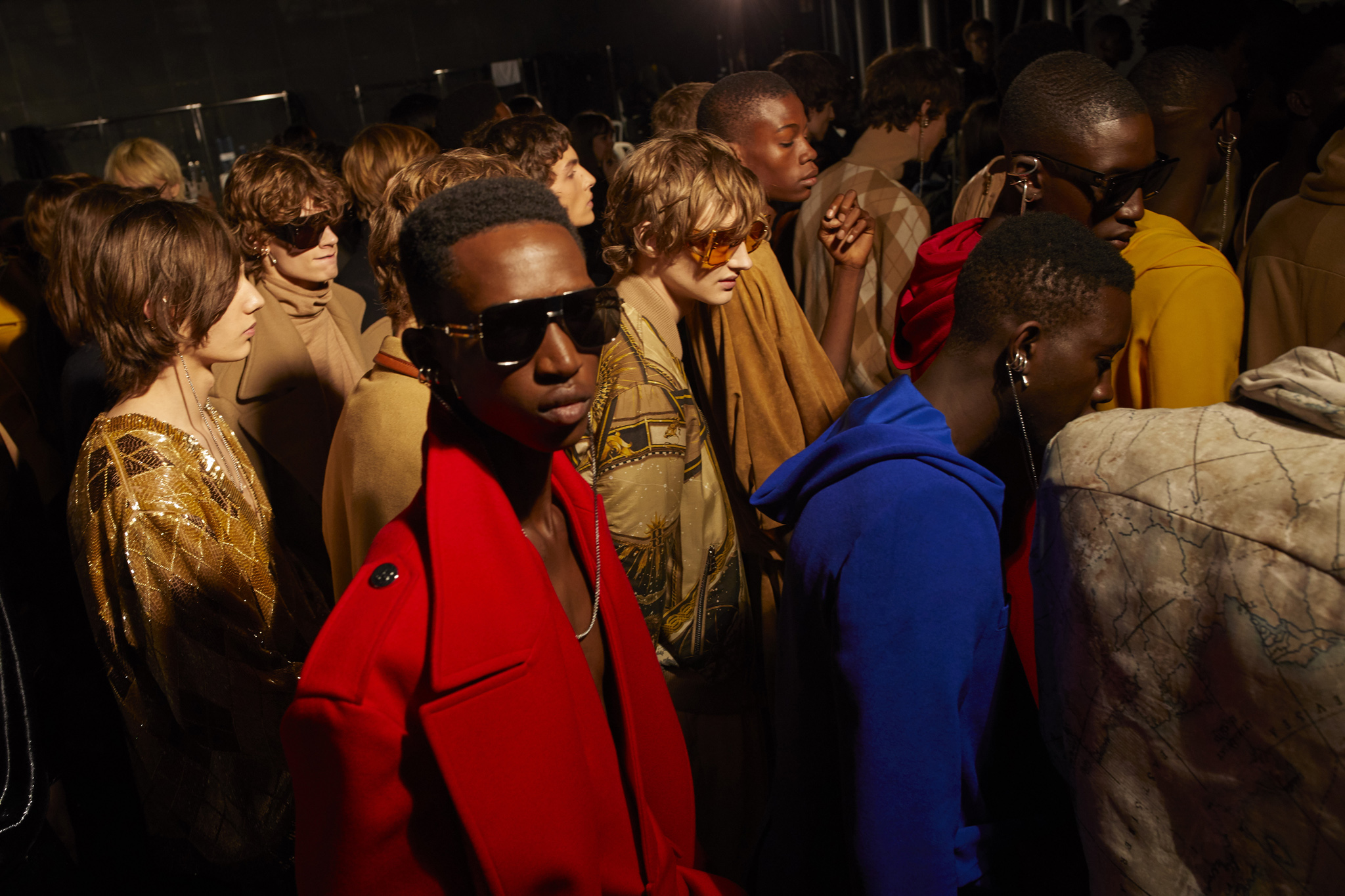 Backstage at Balmain Men's Fall 2020