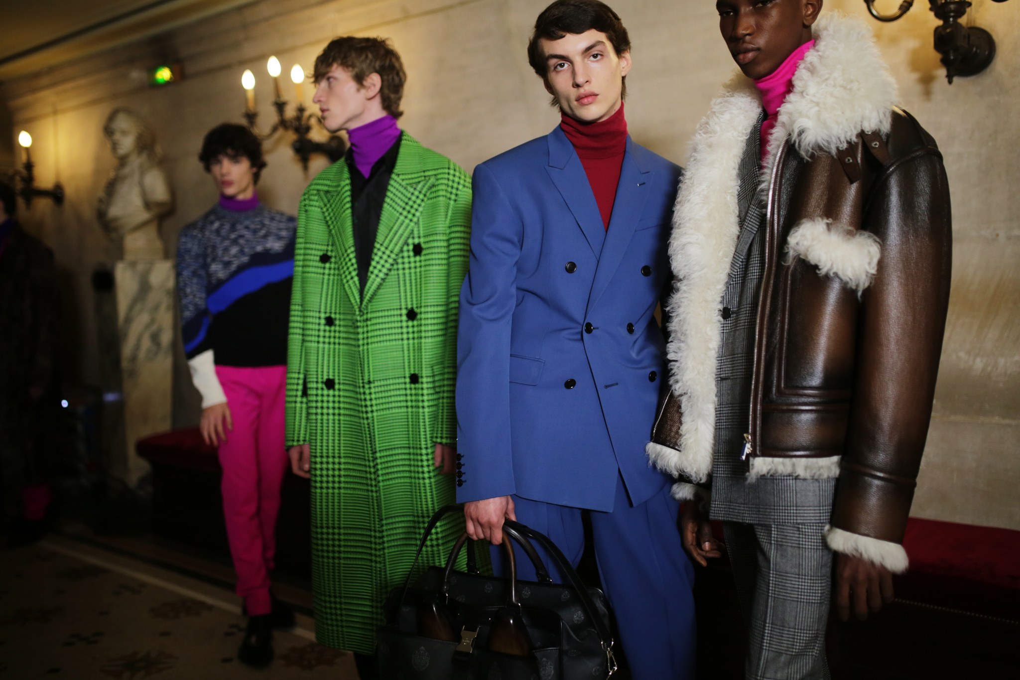 Backstage at Berluti Men's Fall 2020