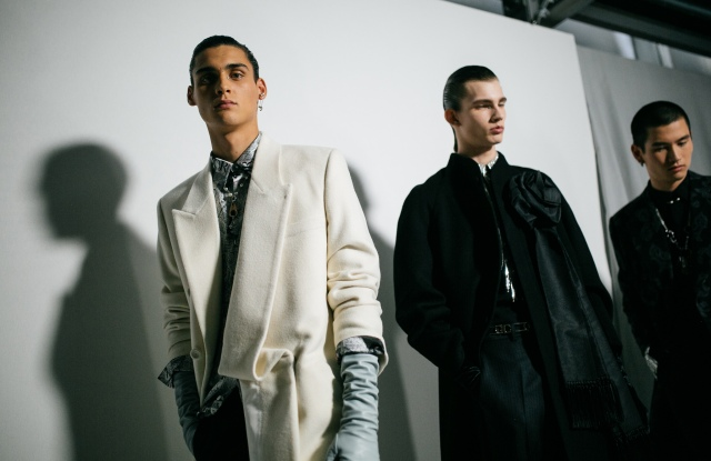 Backstage at Dior Men Men's Fall 2020