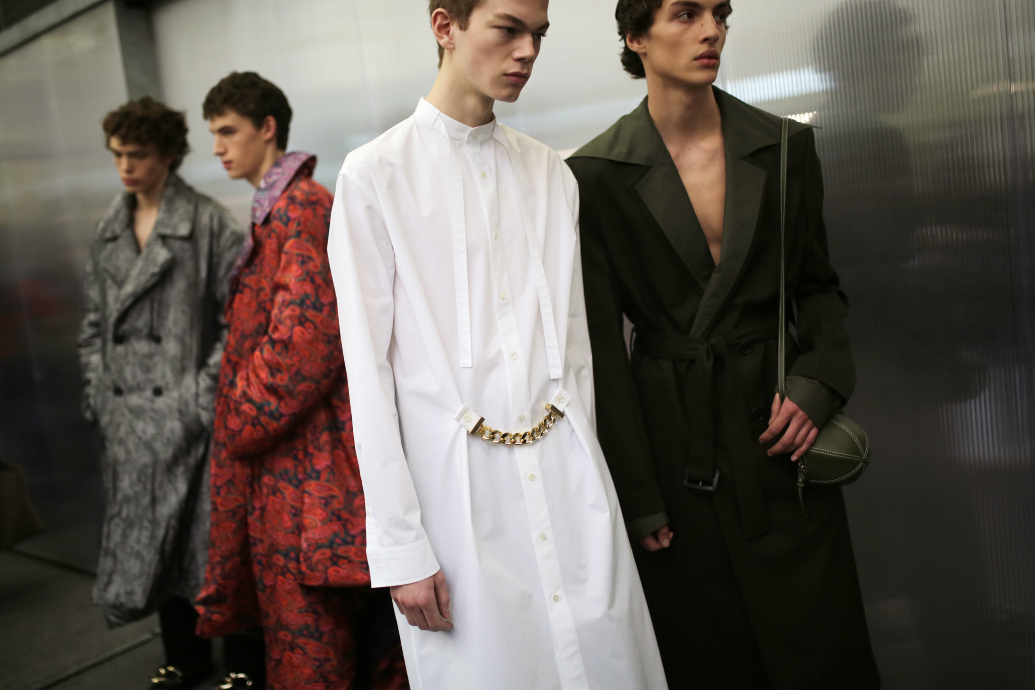 Backstage at JW Anderson Men's Fall 2020