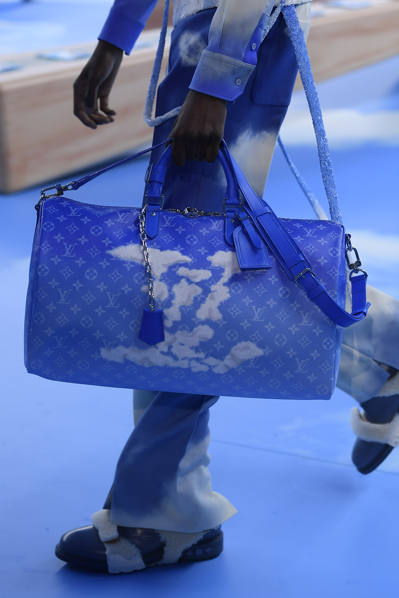 A selection of bags at Louis Vuitton Men's Fall 2020