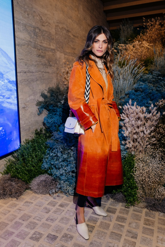Elisa Sednaoui at the Bally Haus event.