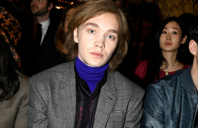 Charlie Plummer front row at Berluti Men's Fall 2020 show