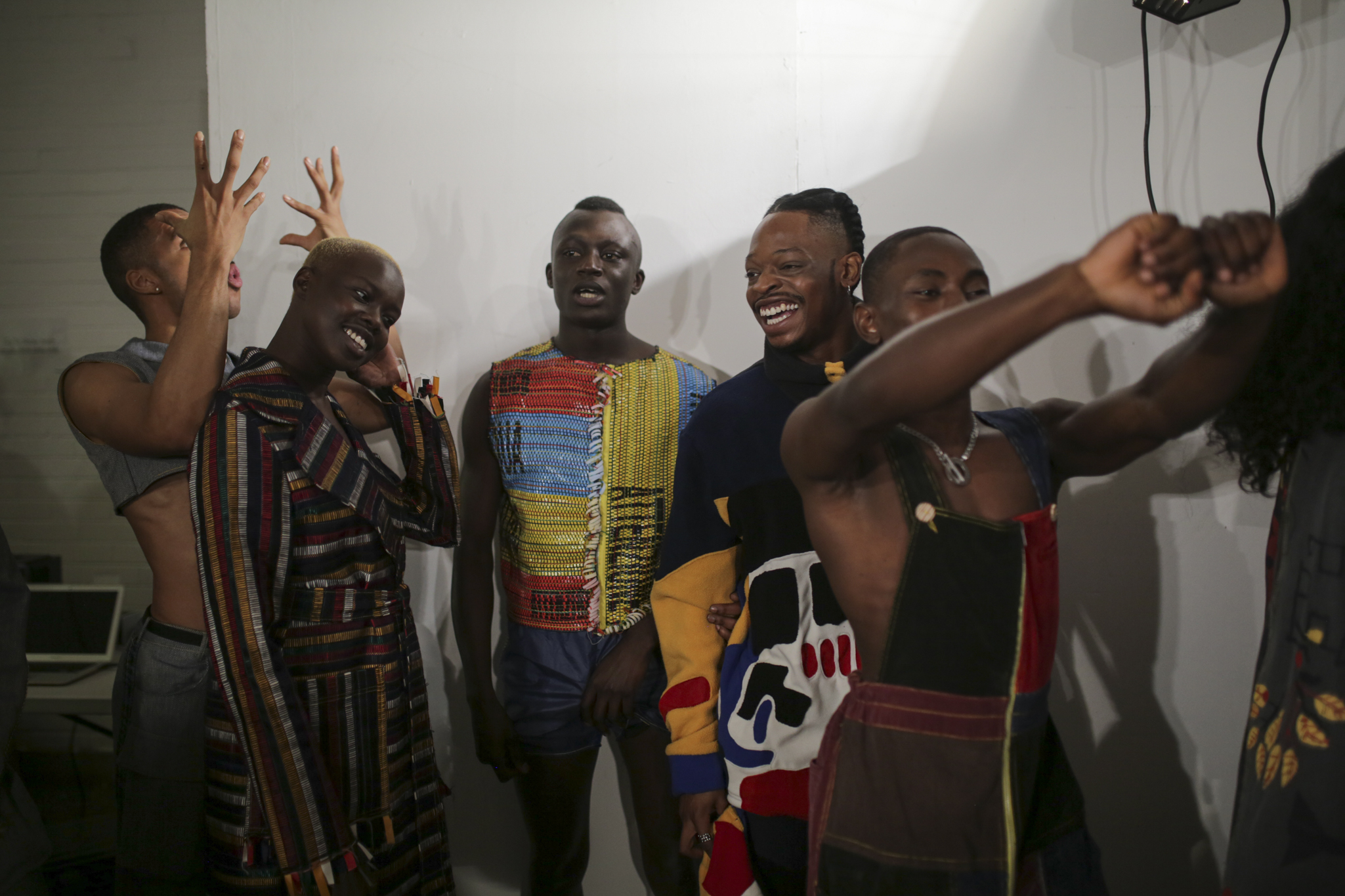 Backstage at Bethany Williams LFW Men's Fall 2020
