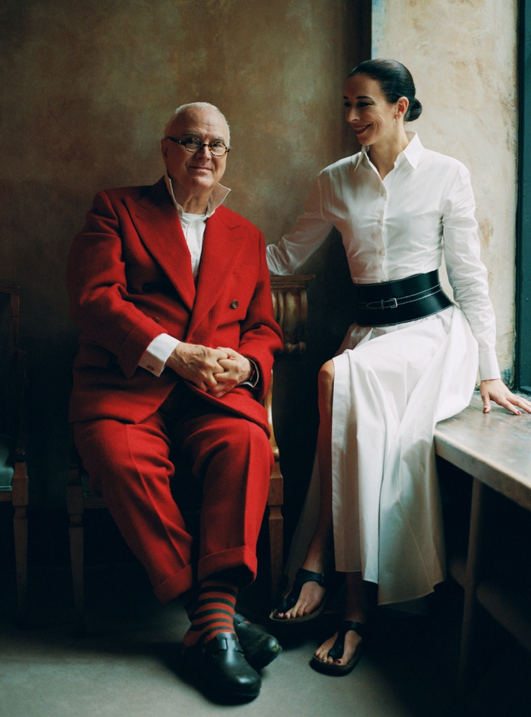 Manolo and Kristina Blahnik in a Birkenstock campaign earlier this year.