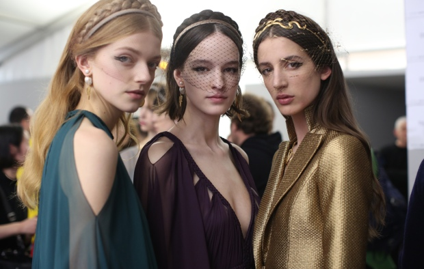 Backstage at Dior Haute Couture Spring Summer 2020