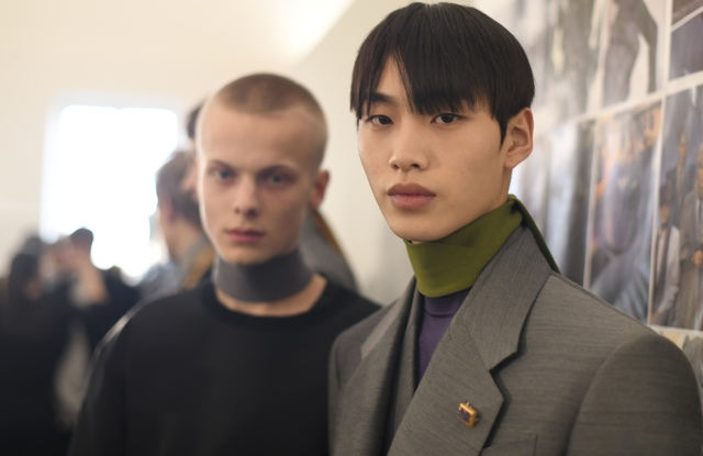 Backstage at Dunhill Men's Fall 2020
