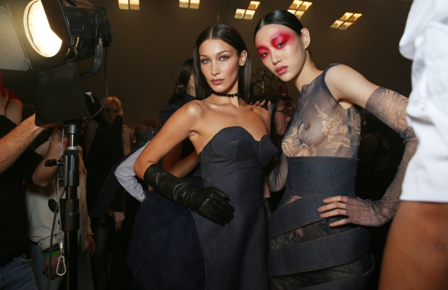Backstage at Jean Paul Gaultier Couture Spring 2020