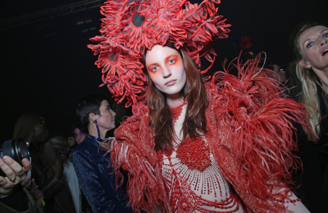Backstage at Jean Paul Gaultier, Haute Couture Spring Summer 2020, photographed in Paris on Jan 22,2020.