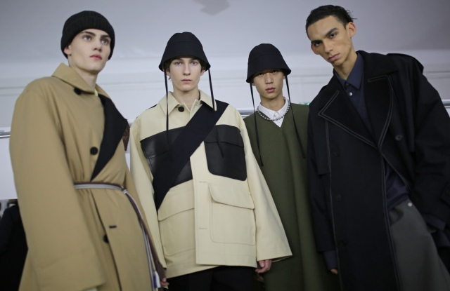Backstage at OAMC Men's Fall 2020