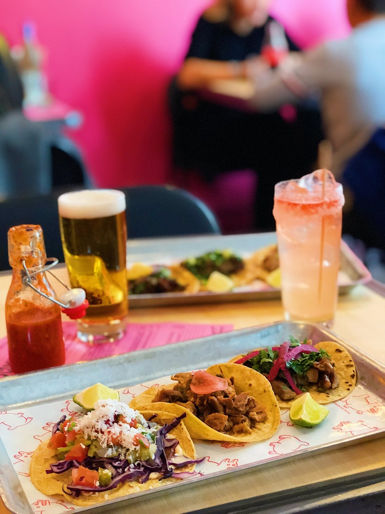 Chihuahua Tacos' tapas and drinks.