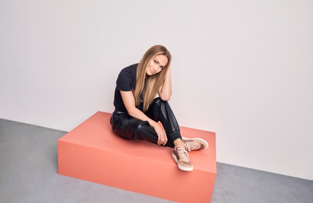 Jennifer Lopez in the new Coach CitySole sneaker collection.