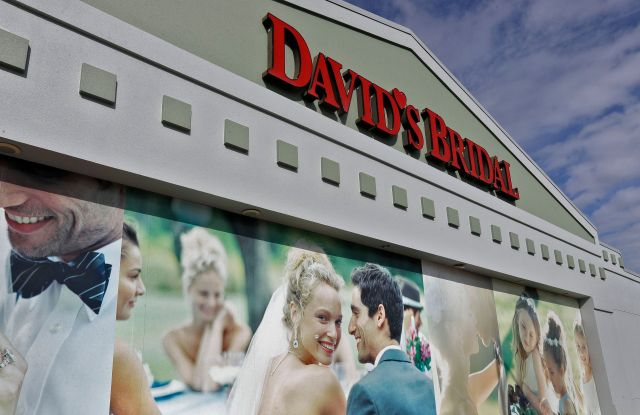 The David's Bridal shop is shown, in Tampa, Fla. David's Bridal is filing for bankruptcy protection but there is no danger for customers who have ordered dresses because operations are continuing as normal while the wedding and prom retailer restructuresDavid's Bridal Bankruptcy, Tampa, USA - 19 Nov 2018