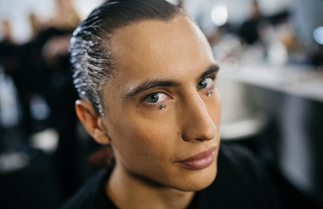 Backstage at Dior Men