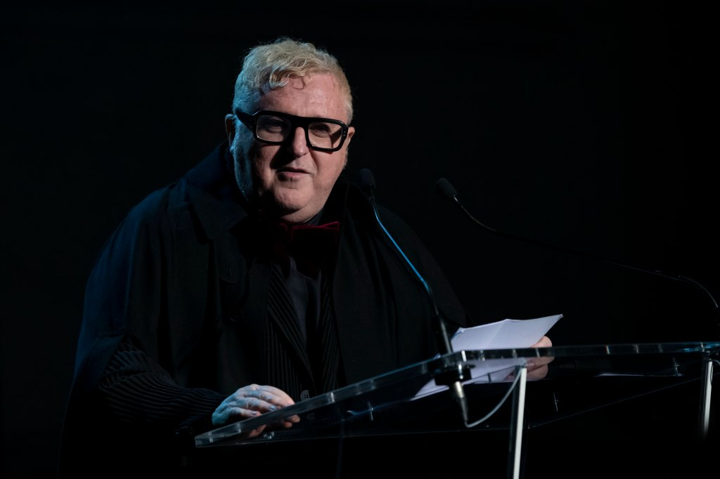 Alber Elbaz at the Parsons Paris gala
