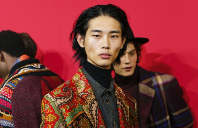 Backstage at Etro Men's Fall 2020