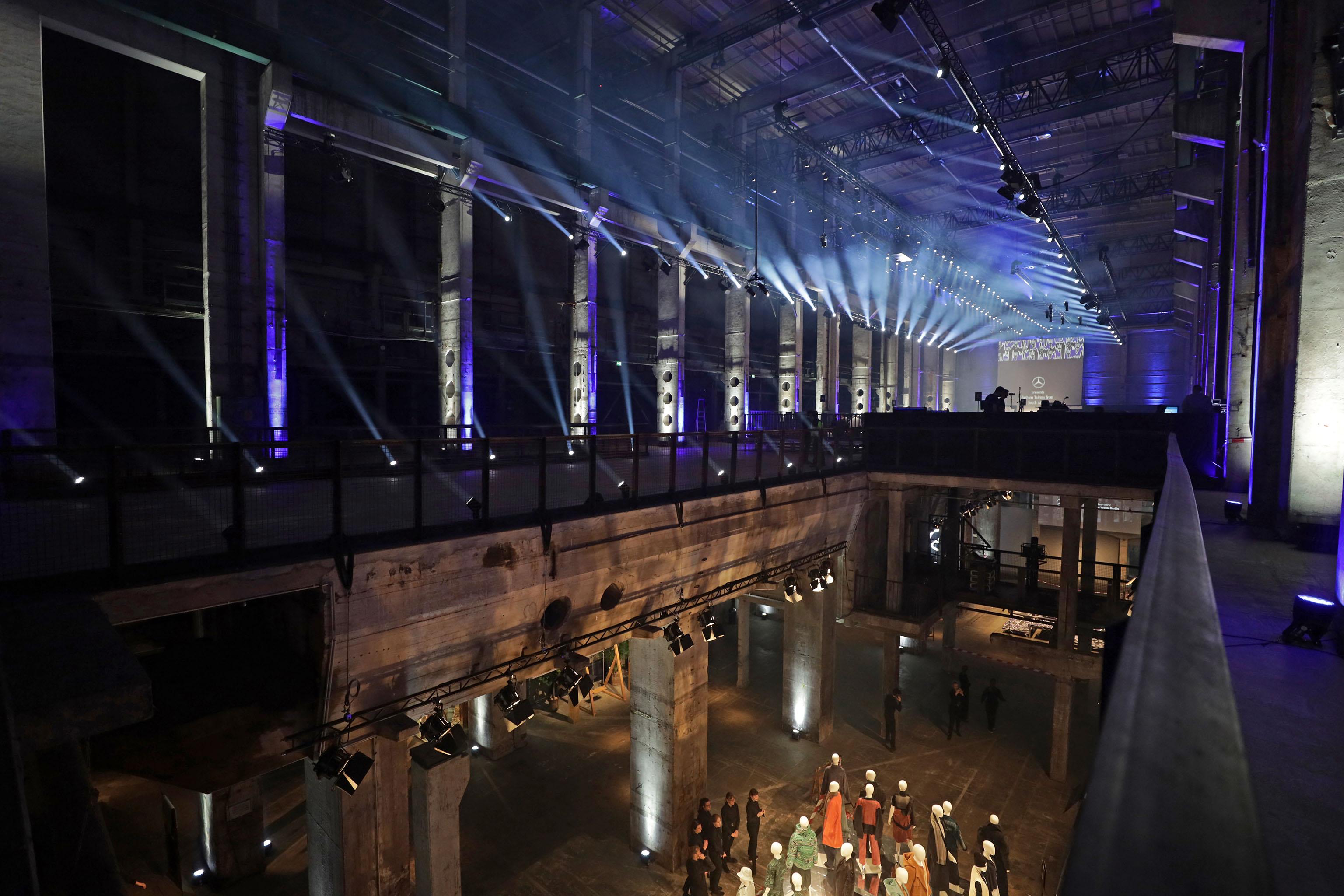 The scene at Berlin Fashion Week Fall 2020 at Kraftwerk Mitte.