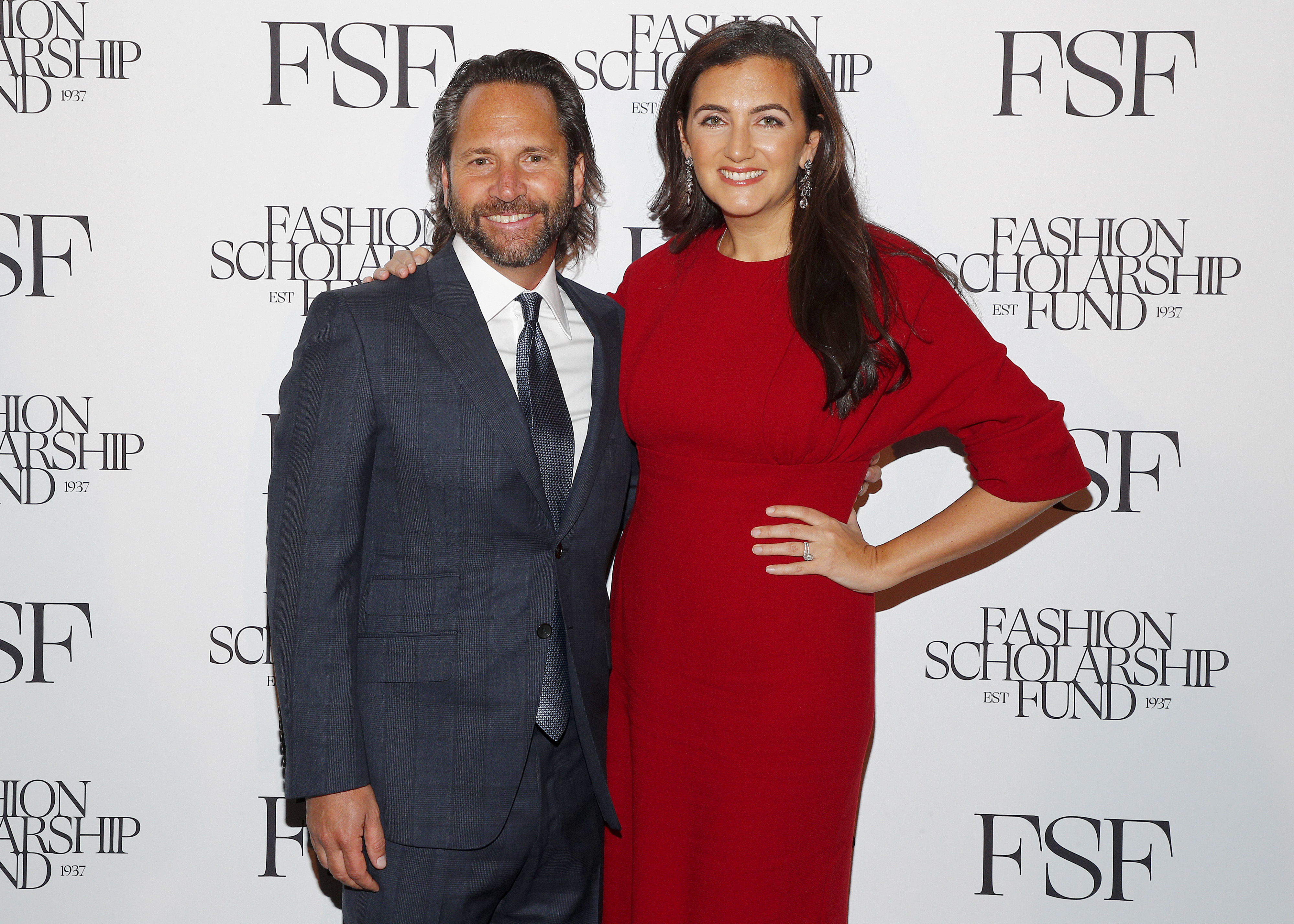 Honorees, Centric Brands' chief executive officer Jason Rabin and Rent The Runway's ceo Jennifer Hyman attend The Fashion Scholarship Fund Gala.