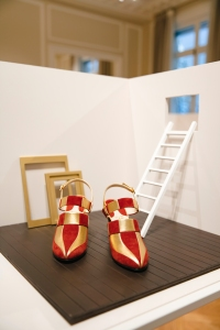 One of the designs in the Jamais Reproduit collection, staged in an installation curated by Olivier Saillard.