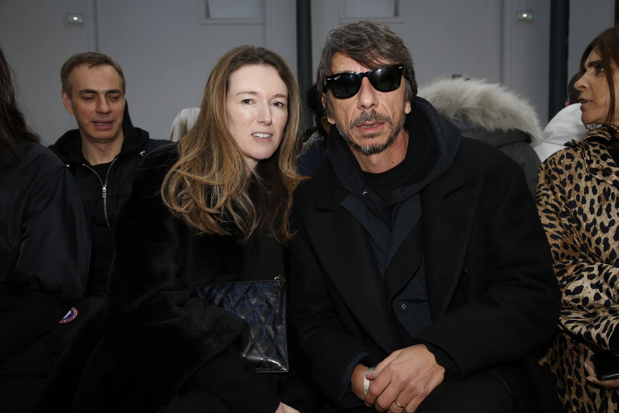 Pierpaolo Piccioli with a guest in the front row
