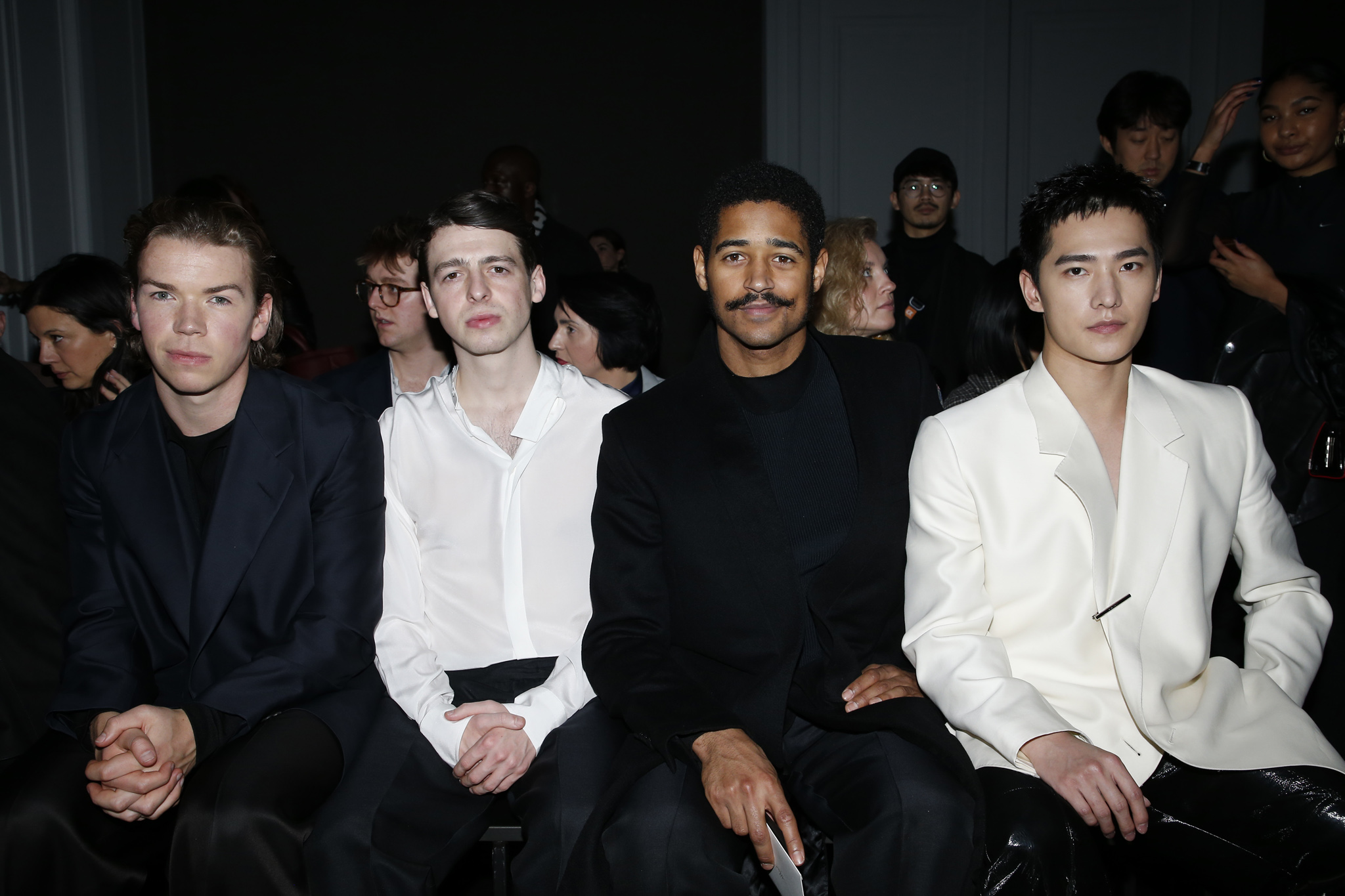 Will Poulter, Anthony Boyle, Alfred Enoch and Yang Yang in the front row
