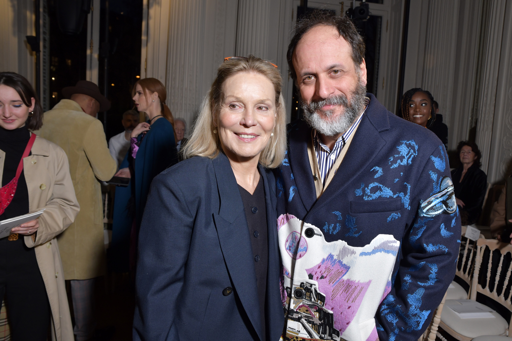 Marthe Keller and Luca Guadagnino  in the front row