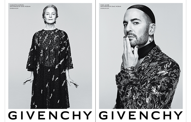 Charlotte Rampling and Marc Jacobs for Givenchy Spring 2020