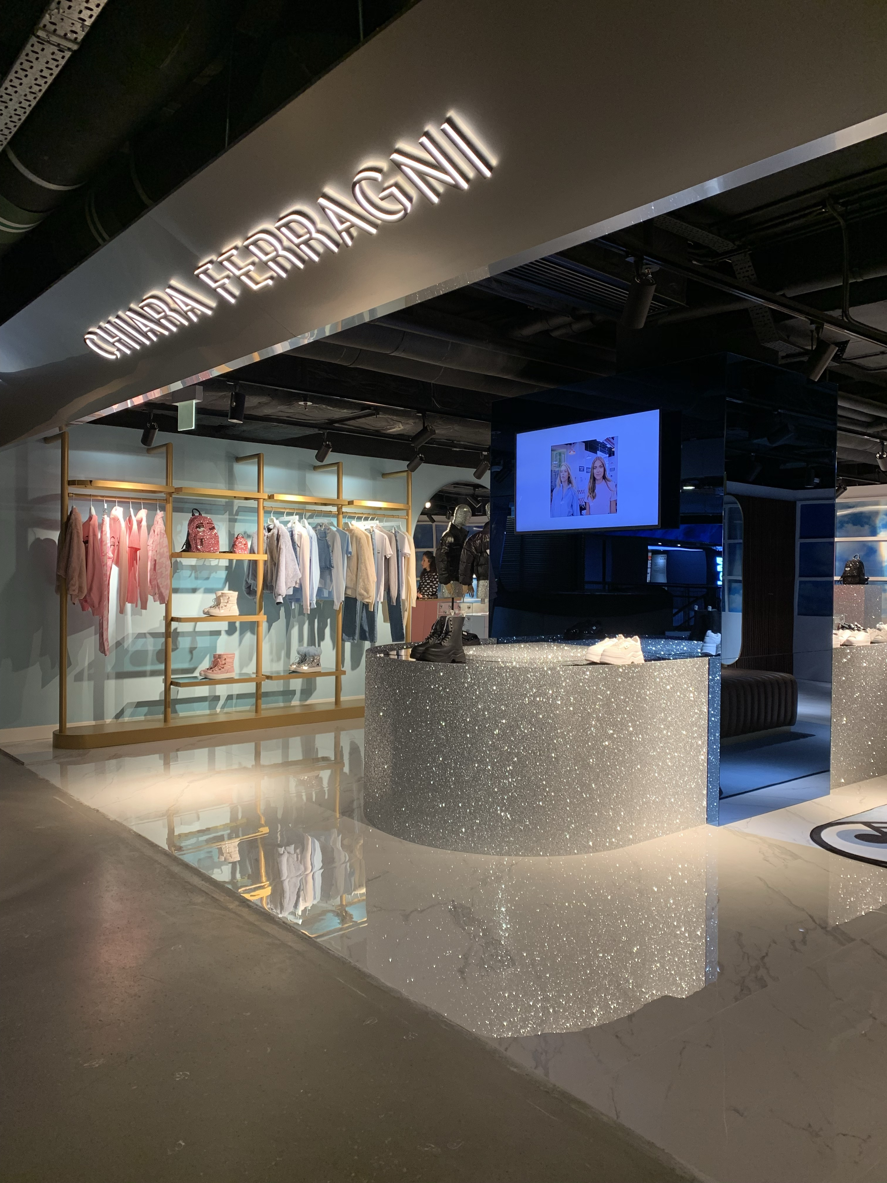 The new Chiara Ferragni Collection flagship in Hong Kong.