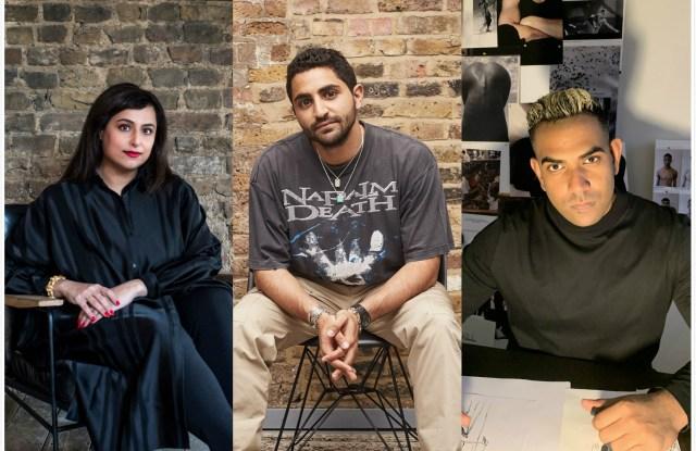 From left to right: Hoor Al Qasimi, Talal Hizami and Kaushik Velendra