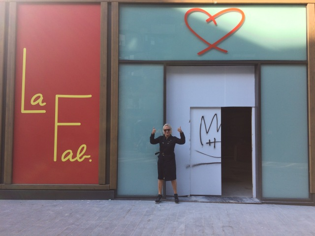 Agnès Troublé outside of her forthcoming art museum, La Fab.
