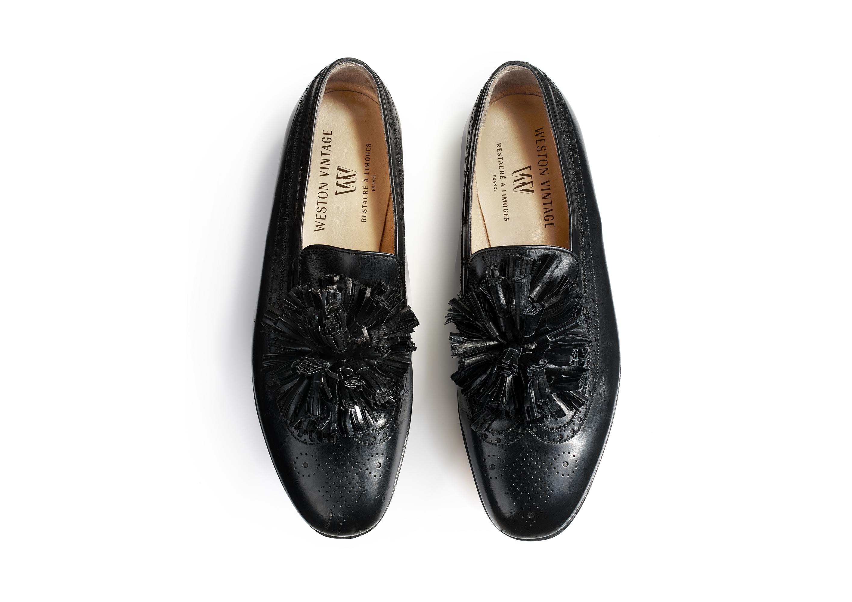 The customized Bartin Malanciaga shoe from the Weston Vintage line.